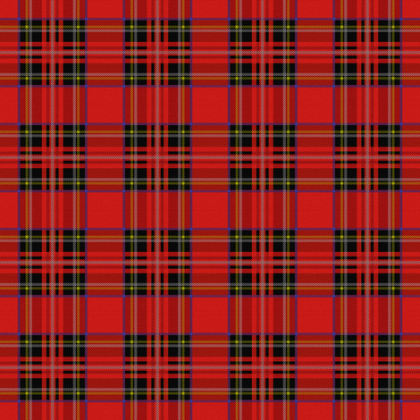 Royal Stewart Tartan ~ Wee fabric by peacoquettedesigns on Spoonflower - custom fabric