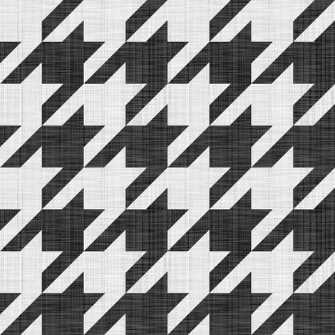 Rlinen_luxe___houndstooth_check___black_and_white___peacoquette_designs___copyright_2014_shop_preview