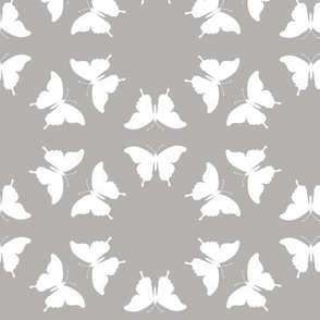 Butterfly Silhouette Smudge Grey