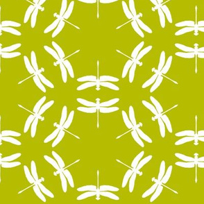 Dragonfly Silhouette Spring Green