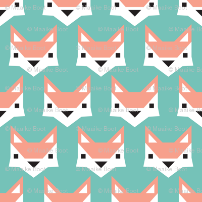 Geometric fox illustration
