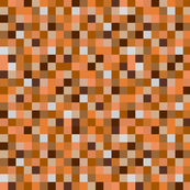 Minecraft Inspired Pixels - Orange