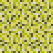 Minecraft Inspired Creeper Pixels - Yellow