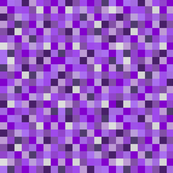 Minecraft Inspired Creeper Pixels - Purple