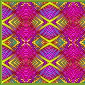 Qbist Rainbow Pillow Design