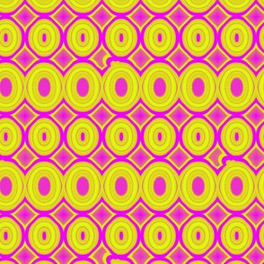Hot Pink and Chartreuse Ovals_21x18