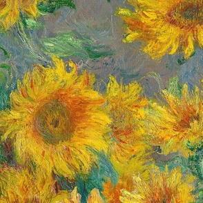 monet's sunflowers (XL)