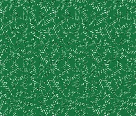 Oxytocin (greens) fabric by studiofibonacci on Spoonflower - custom fabric