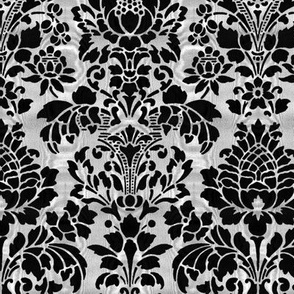 Balmoral Damask ~ Moire ~ Black and White