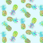 pineapples blue mini