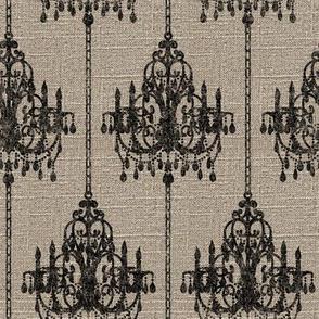Chandelier Pinstripe on Linen