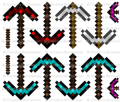 Minecraft Inspired Pillow Weapons