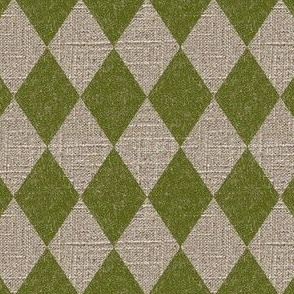 Large Diamonds in Moss on Linen
