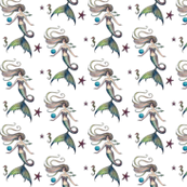 Mermaids & Sea Creatures Fabric