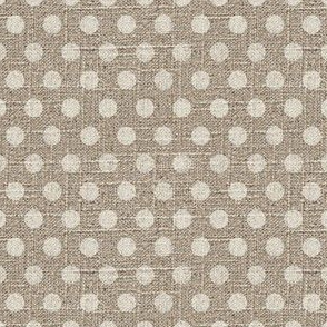 Dots in Cream on Linen