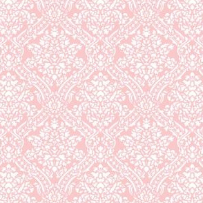 Windsor Damask ~ White on Dauphine