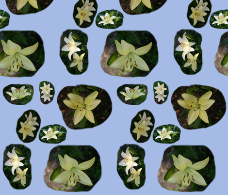 SterlingStarLilies fabric by serenity_ii on Spoonflower - custom fabric