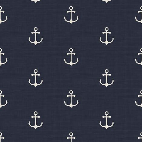 Anchor - Navy Texture