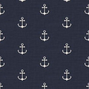 Anchor - Navy Texture