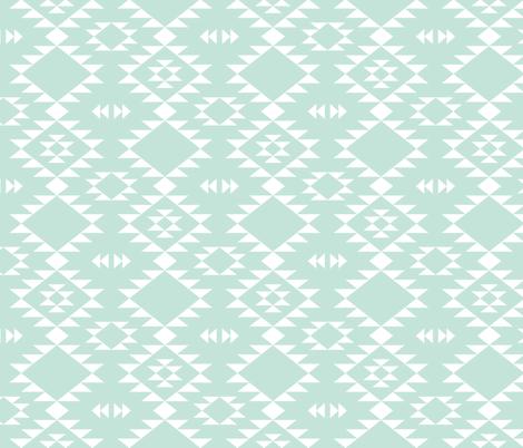 Navajo - Mint white fabric by kimsa on Spoonflower - custom fabric