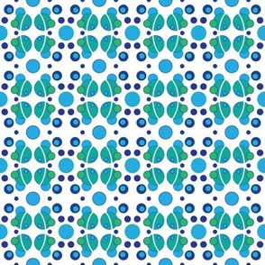 Blue & Green Polka Dots