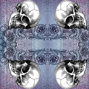Skull rose, rotated