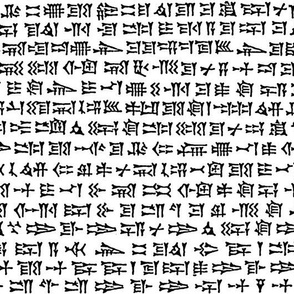 cuneiform in black and white, large