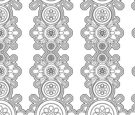 coloring_page fabric by mammajamma on Spoonflower - custom fabric