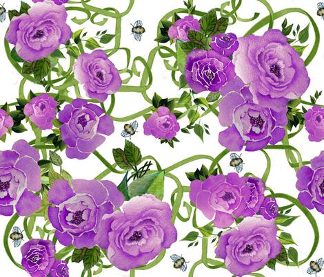 Peonies & Bees Purple