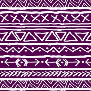 Tribal On Plum Large