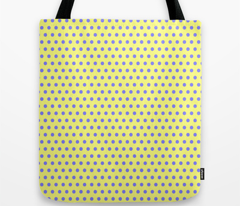 Blue Easter Dot on Yellow