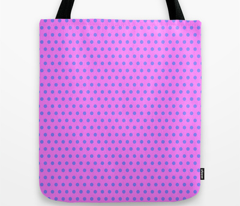 Blue Easter Dot on Magenta