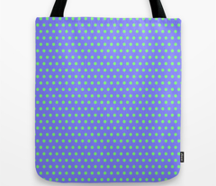 Green Easter Dot on Blue