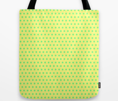 Green Easter Dot on Yellow