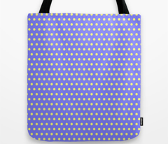 Yellow Easter Dot on Blue
