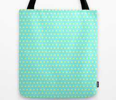 Yellow Easter Dot on Cyan