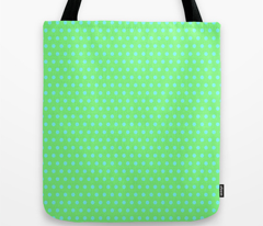 Cyan Easter Dot on Green