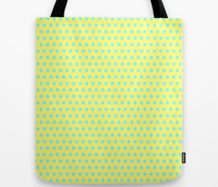 Cyan Easter Dot on Yellow
