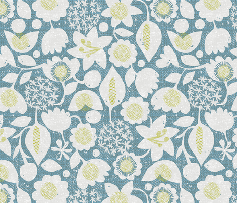 Flower Garden fabric by ottomanbrim on Spoonflower - custom fabric