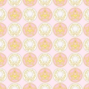 Sailor Moon Kawaii Star Circle Print