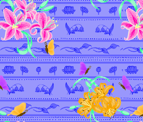 Lillies fabric by liliflorapretty on Spoonflower - custom fabric