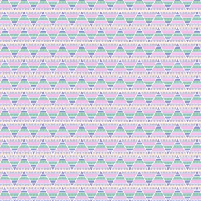 Patterned Geometric Aztec Pastel Triangle Print