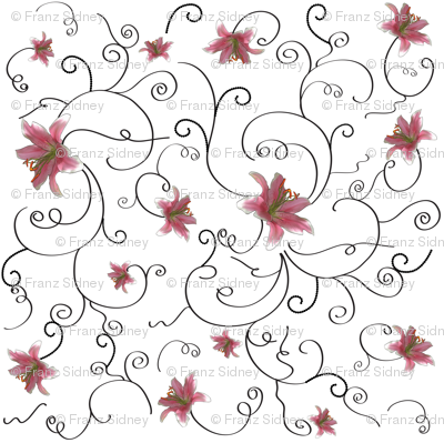 Swirls and lilies