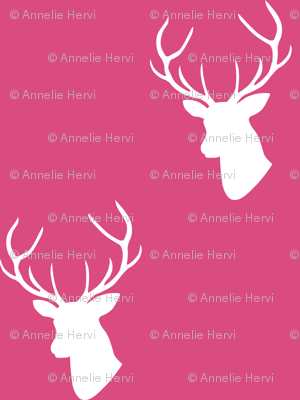 Hot Pink Deer Silhouette