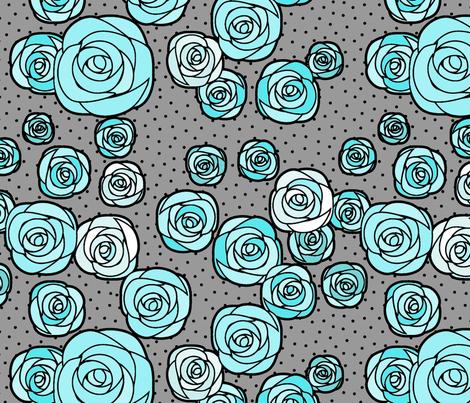 Gray Mint Garden (black outline)