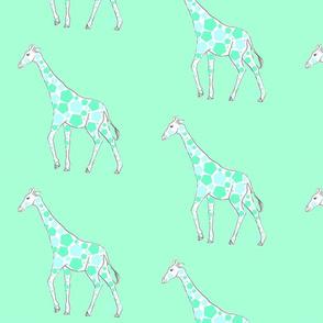 giraffe en blue