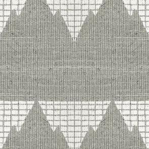 Peak & Valley - soft gray and white