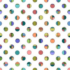 Dots - Modern Abstract, Natural Tones