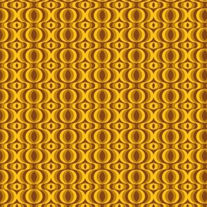 retro waves brown-yellow