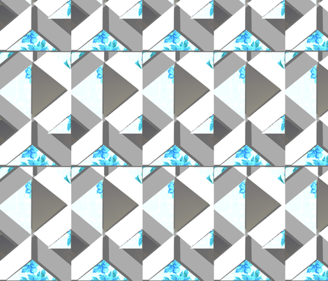 ps_spring_blue_print fabric by abigail_margo_hofeldt on Spoonflower - custom fabric